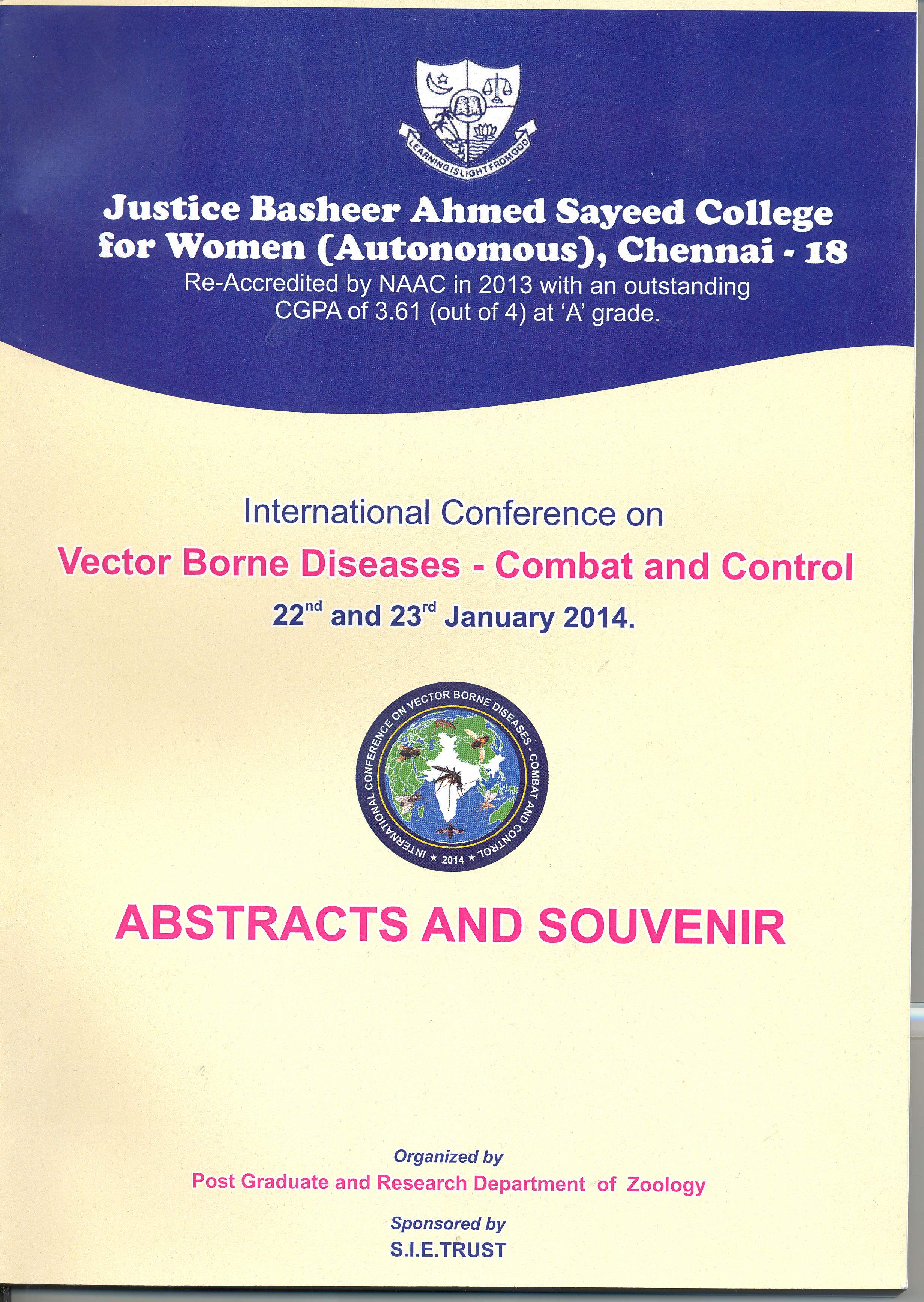 international conference on vector borne diseases combat and control